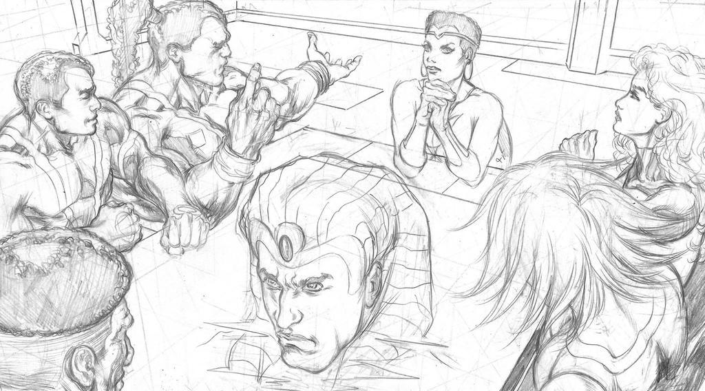 Powerverse Odina Page Comics WIP by E-Blake