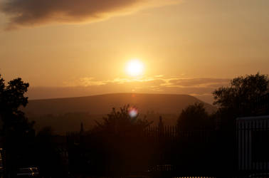 Sunset over Pendle Hill by tcm-photography