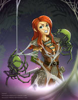 Aela the Huntress Spider Bondage1 by StickyScribbles
