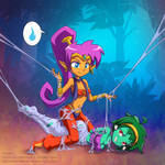 Shantae and Rottytops1 by StickyScribbles
