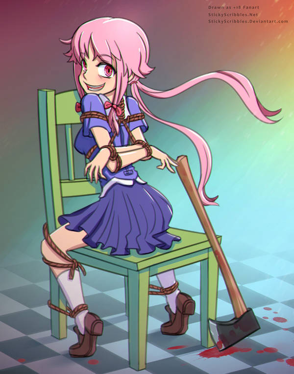 Yuno Gasai Bondage 1 by StickyScribbles