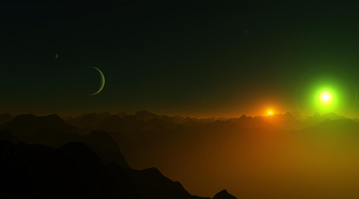 Terragen: Binary by TylerCreatesWorlds
