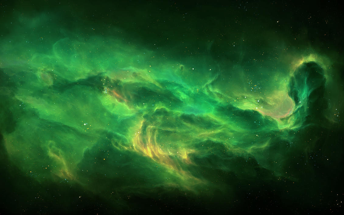 Echoes of the void 2 by tylercreatesworlds on deviantart - Space wallpaper green ...