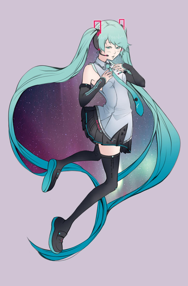 Hatsune Miku Galaxy Star by Aranren