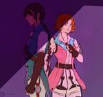 RWBY Ren and Nora