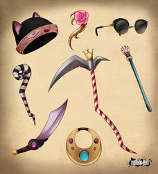 RPG items concept art by NuggetSangriento