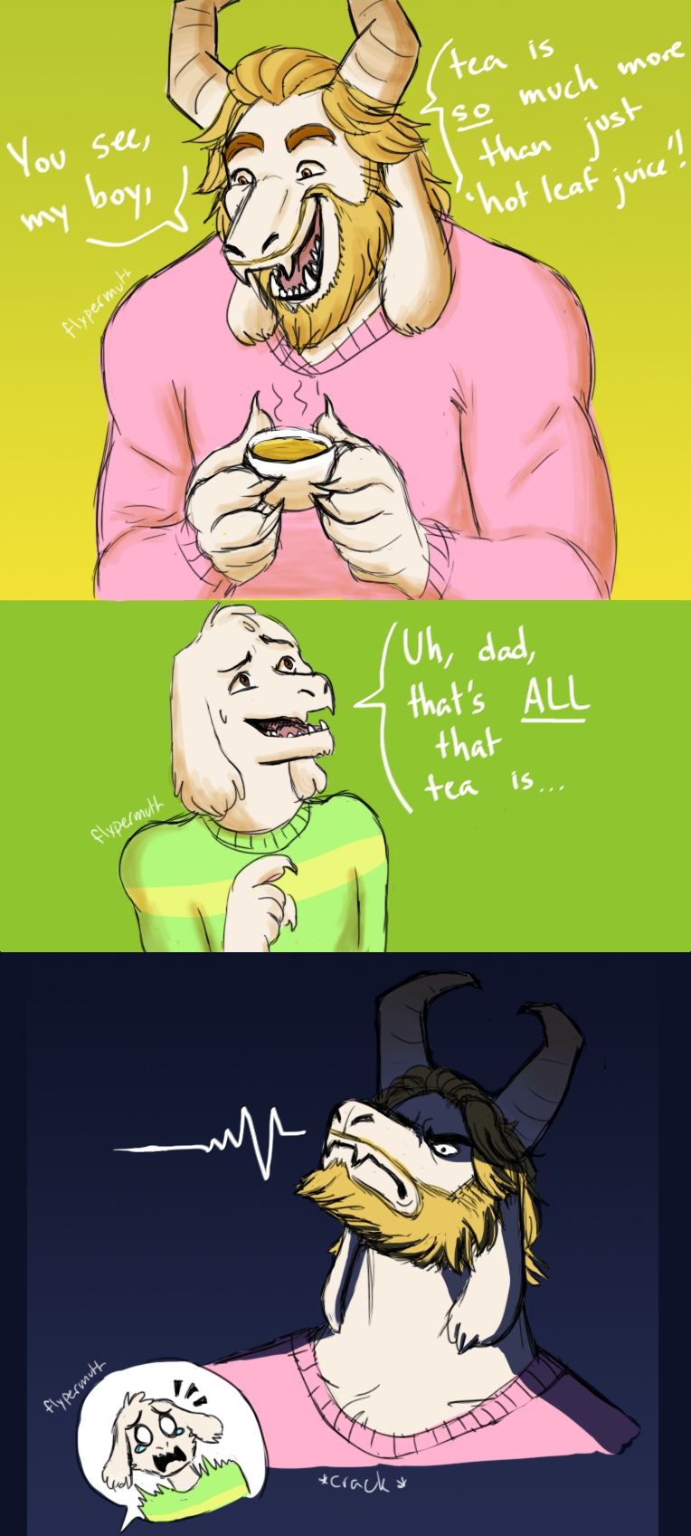 Undertale | Hot Leaf Juice by NorthernLightWolf on DeviantArt