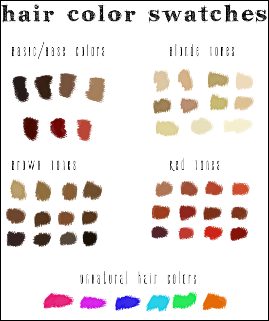 Hair Color Swatches Photoshop Dark Brown Hairs Of Hair