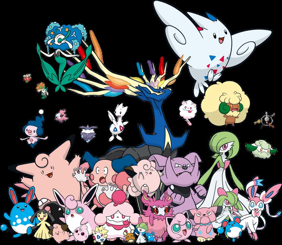 Fairy Type Pokemon List Images | Pokemon Images
