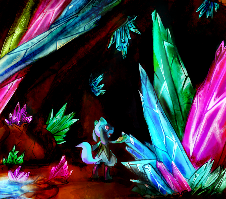 Crystal cave by mudkip-chan