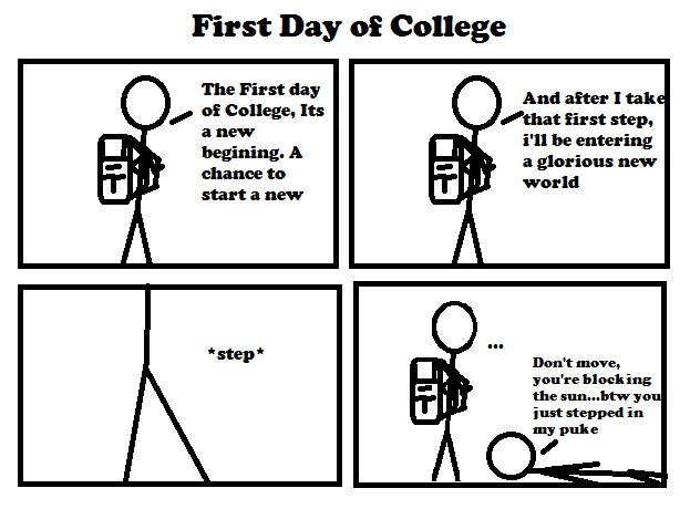 First Day of College by Bic comics on DeviantArt