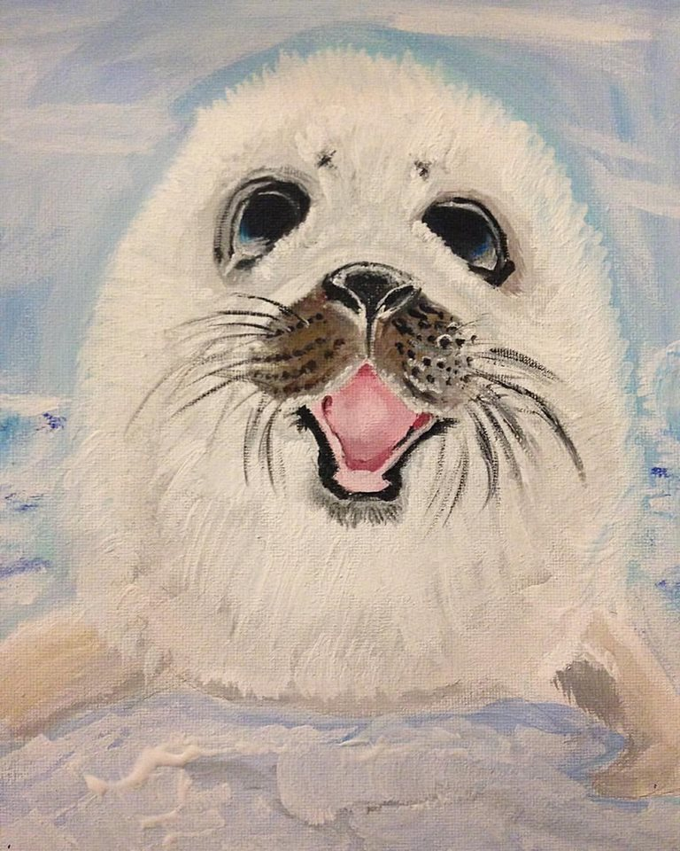 Harp Seal Pup by goshilpa