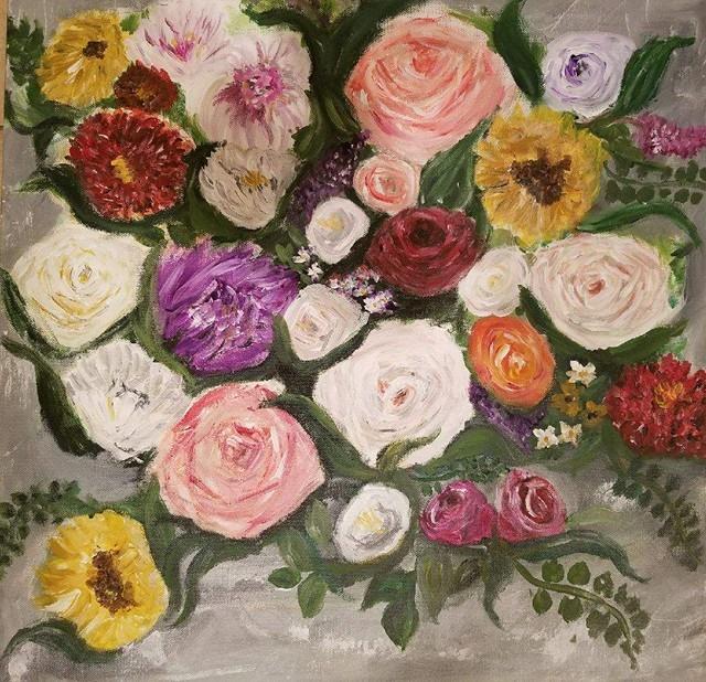 flowers again by goshilpa