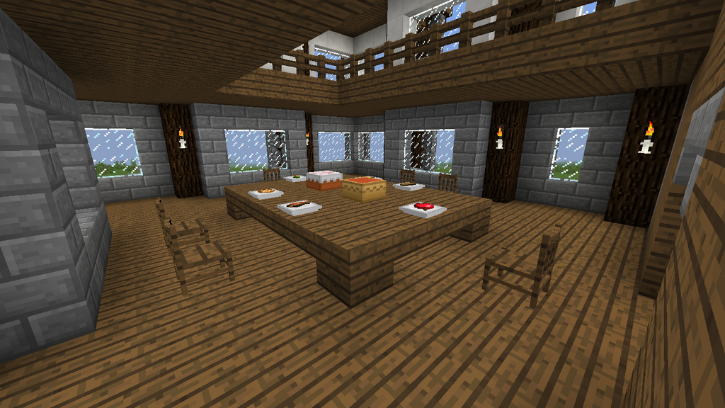 Minecraft - Town hall - Dining room by 1001FacesOfTheWall ...