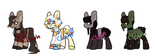 PONY ADOPTS || 2/4 (SET PRICE 300 PTS) by clowncubes