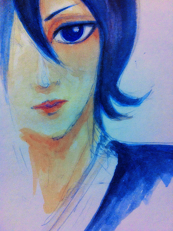 rukia - watercolour by sharlicious