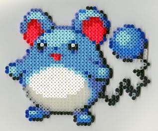 Maril Pokemon fuse beads by nekomusume