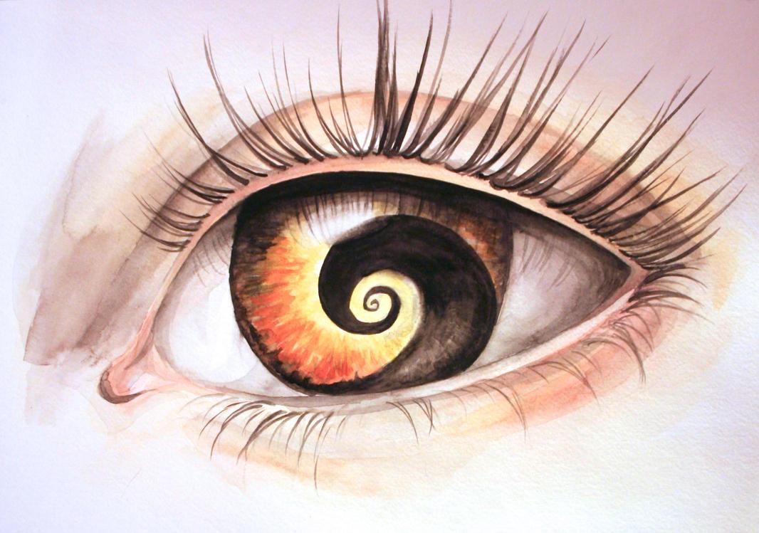 Nightmare Eye (Watercolor) by BlackBeltVampyre