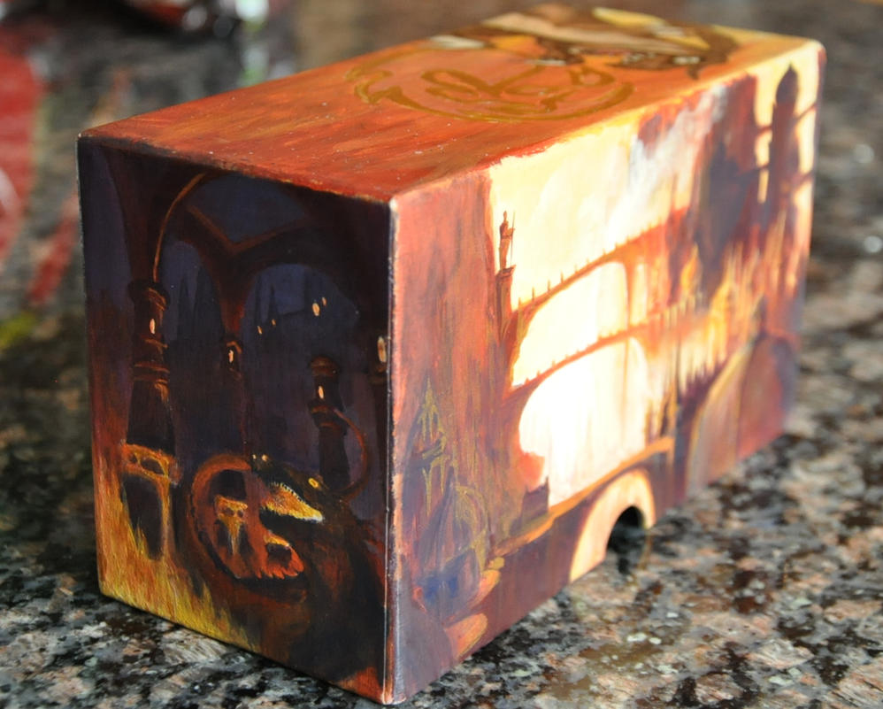 Finished MTG deck box (Side 2) by BlackBeltVampyre