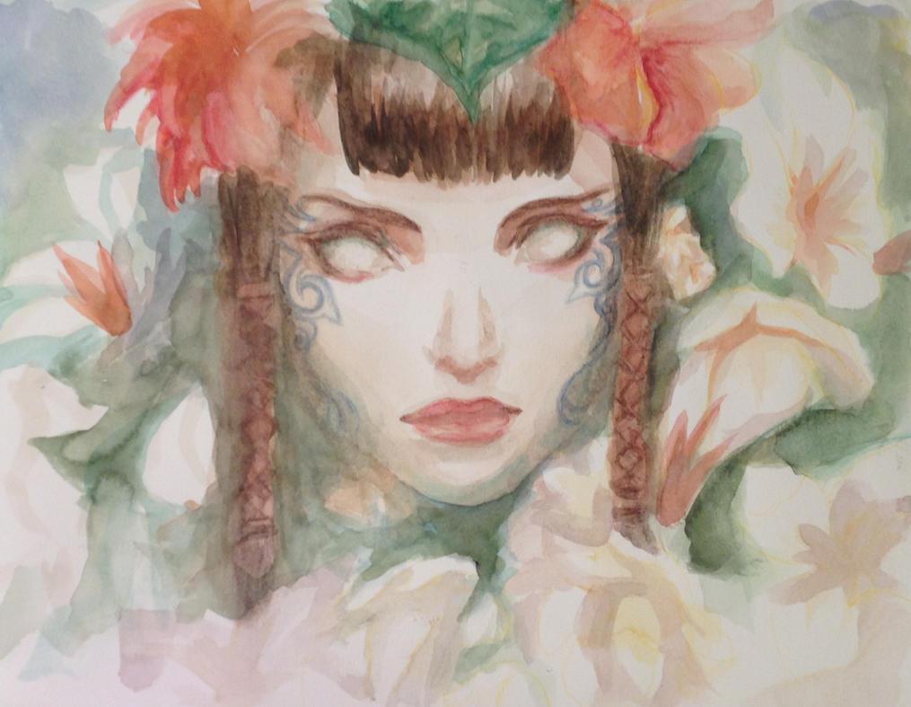 Mayael Watercolor by BlackBeltVampyre