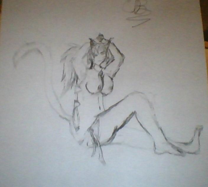Redraw of Shikeyy's character Misty the chem-cat by Liquidvenom1750