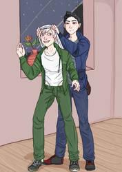 Kiro Gives Mitsu an Atomic by Marmotap