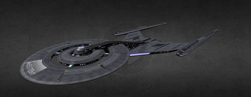 Custom Crossfield-class Starship U.S.S. Avenger by arvistaljik