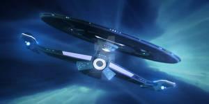 Crossfield-class U.S.S. Avenger - At Warp