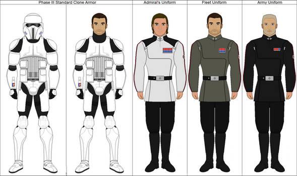 Republic Uniforms (Clone Wars AU)