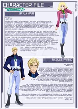 Sayla and McGillis [Gundam 00 AU]