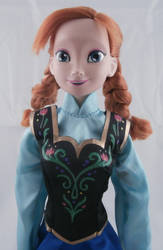 Anna Doll from Disney's Frozen by paintingbyjackie
