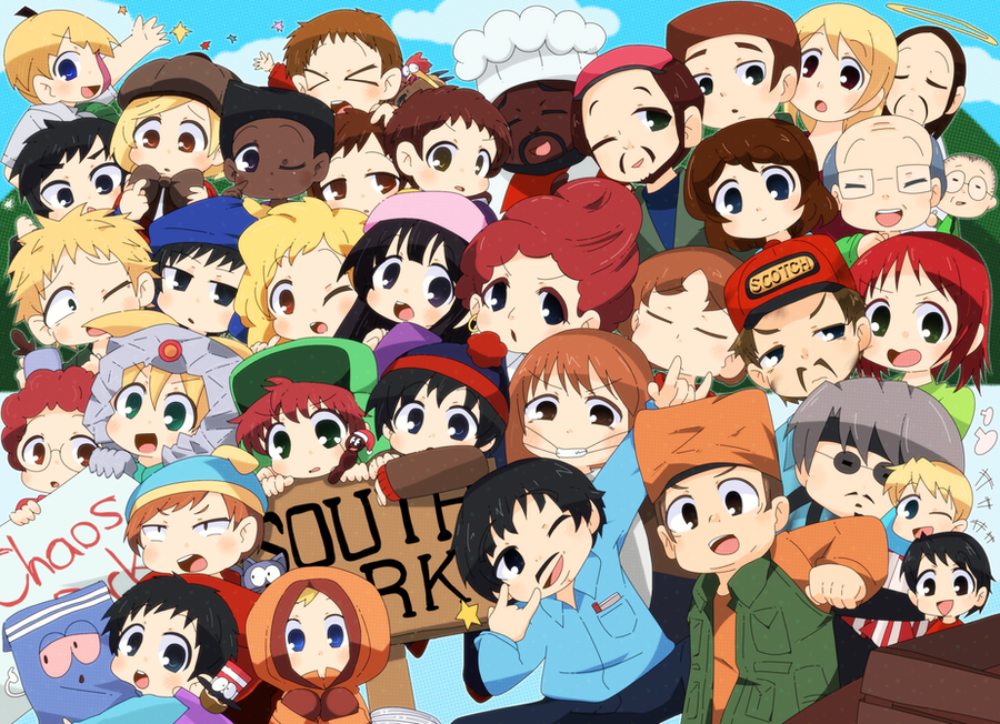 Group Of 6 Cartoon Characters : South park by maruma on deviantart