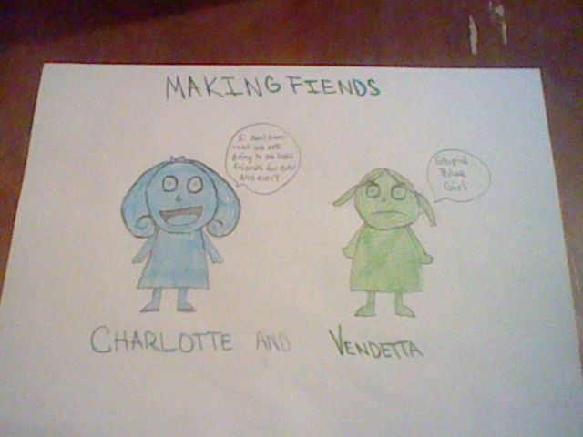 A Friendly Blue Girl and A Fiendish Green Girl by ksl13
