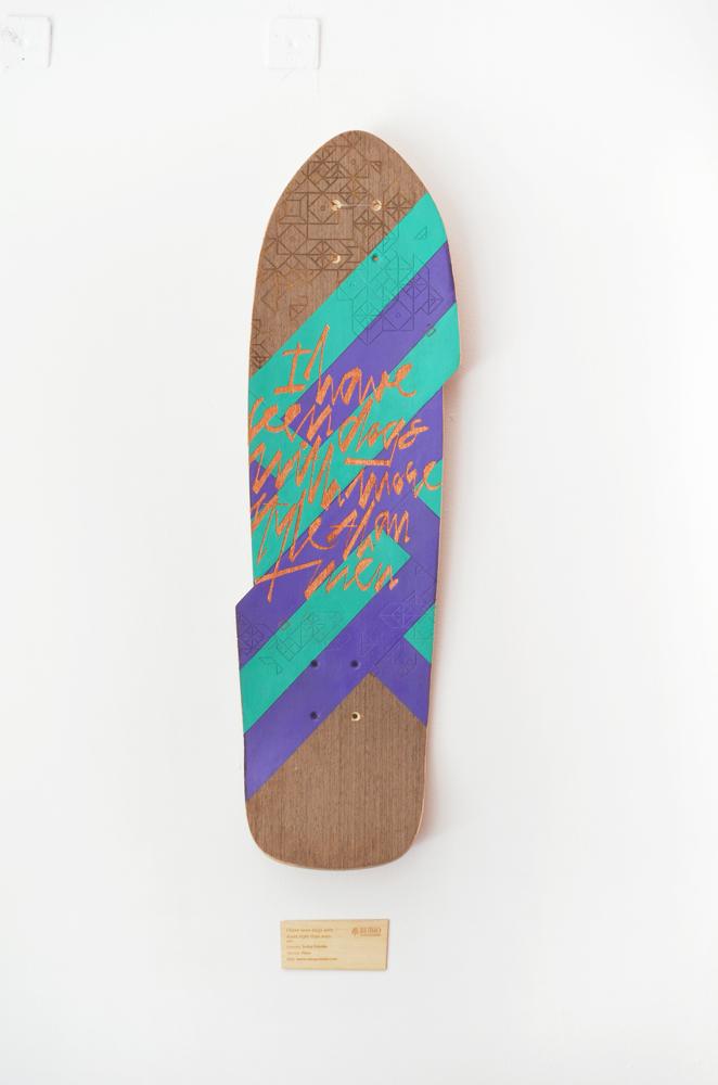 Laser engraved skate by Laserlab21