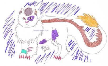 Flying cat Ghaleon by JanusMouse
