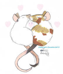 Mouse kisses and love by JanusMouse