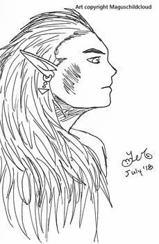 Magus hair scribble