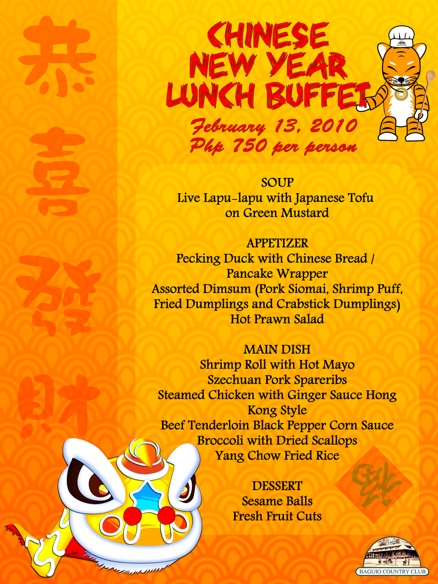 chinese new year lunch buffet by chebaka - Chinese New Year Menu