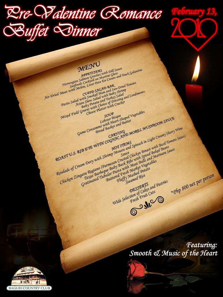 Pre Valentine Dinner Menu By Chebaka ...