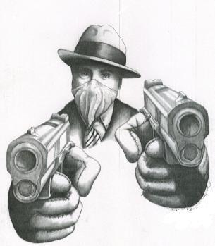 gangster clown artwork Drawings Of Gangster Girl Clowns