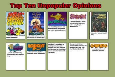 Cave Cat's Top Ten Unpopular Opinions