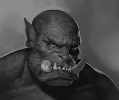 Gray Scale Practice-Orc