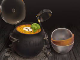 Pumpkin soup by AuntieAwesome