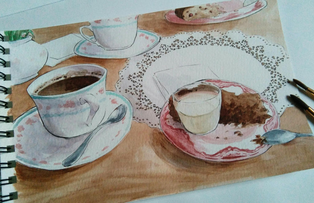 Tea time by OneAngele