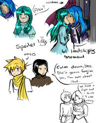 doujinshi sketches Spoiler by Sally78