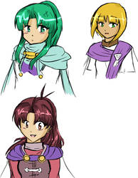 GS girls doodles by Sally78
