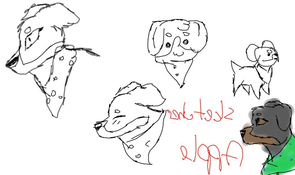 APPLE DOODLESSSSSSSSSSSSSSS by wafflecatdraws