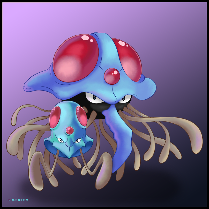 Tentacool and Tentacruel by Ninjendo