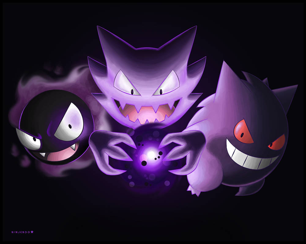 7a5e1a5c Gastly, Haunter and Gengar by Ninjendo on DeviantArt