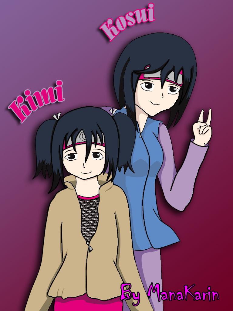 Kimi y Kosui Hiwatari by SasuKarinSui